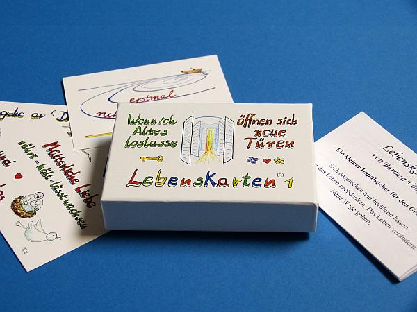 Lebenskarten Visitenkartenbox 1 Wenn Ich Altes Loslasse öffnen Sich Neue Türen